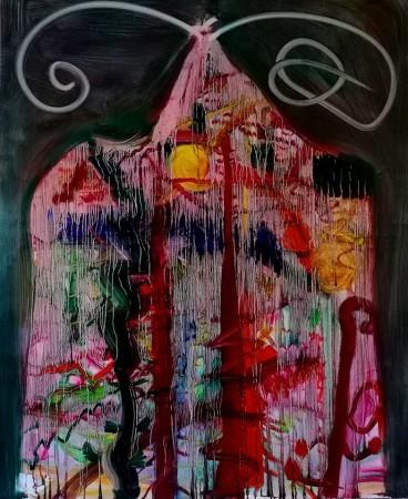 House, 160x130cm, oil on canvas