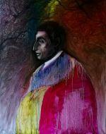 Alfred Flechtheim und entartete Kunst, 100x80cm, 2017